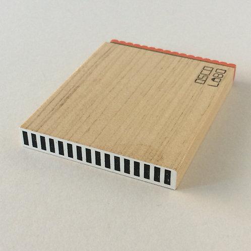 OSCOLABO カタチ×モヨウスタンプ テープ細ストライプ
