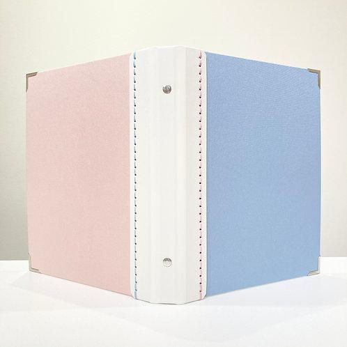 A5サイズ SLバインダーNO.13(ライトブルー、スノーホワイト、ライトピンク)