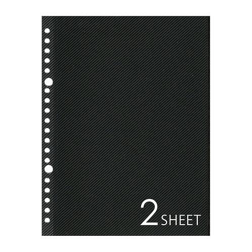 SLアルバムリフィル A5サイズ ブラック 2枚セット