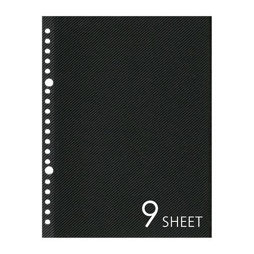 SL アルバムリフィル A5サイズ ブラック 9枚セット