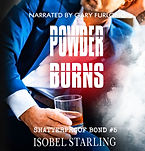 05REBRAND_ Powder Burns Audiobook cover.