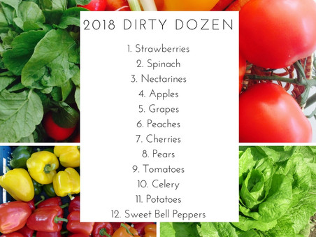 don't be dirty, the 2018 EWG dirty dozen is announced