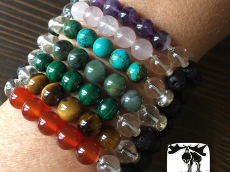 healing stones & essential oils, diffuser bracelets