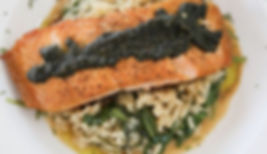 Seared Salmon and Risotto