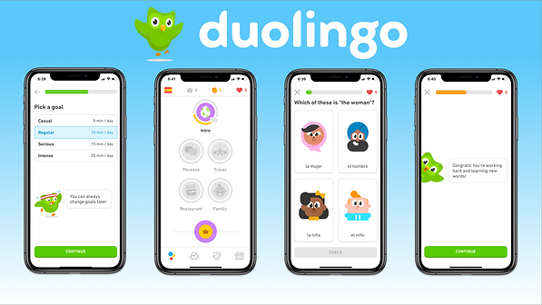 Duolingo Example Screens