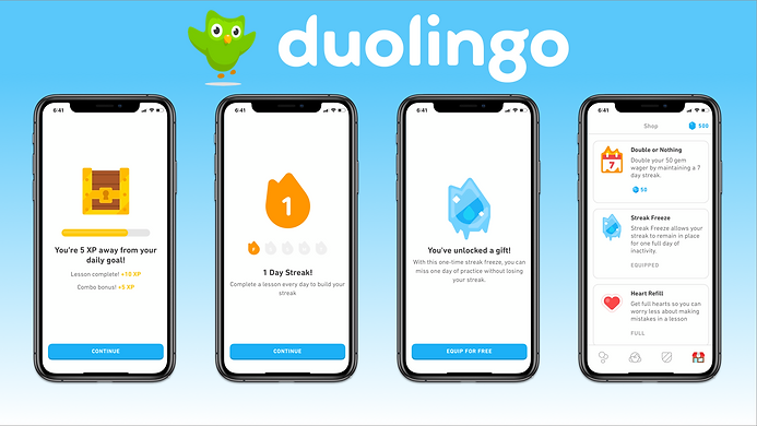 Duolingo Gamification Screens