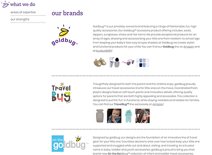 """Our Brands"" Page Update"