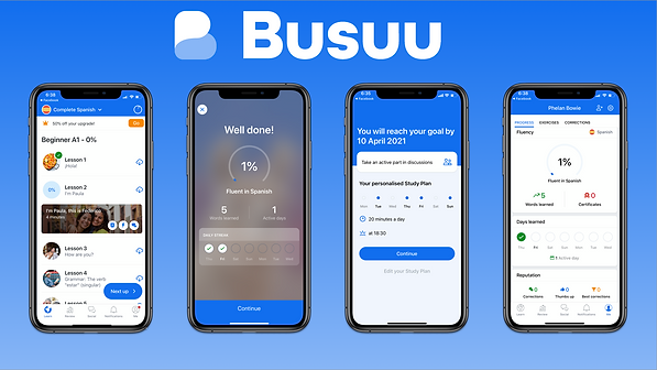 Busuu Lesson Screens