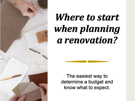 How to start planning your renovation?