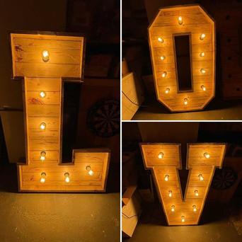 Wedding Rustic LOVE Letters