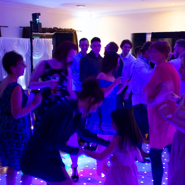 Some more wedding reception dancing - with George Marshall, our wedding disc jockey.