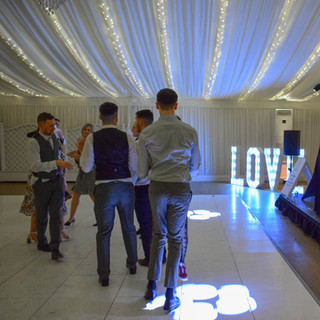 Wedding guests at Parklands Quendon Hall