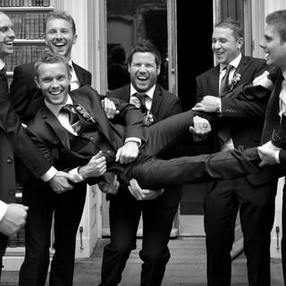 Chris with his groomsmen.