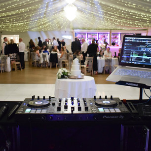 Wedding DJ equipment at Parklands Quendon Hall