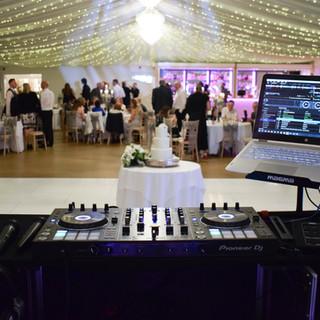 Wedding DJ equipment at Parklands Quendon Hall