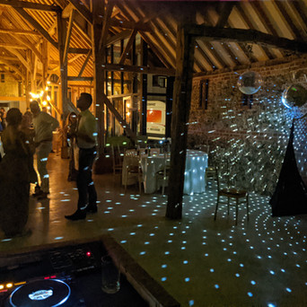 Retro Disco Ball and dance floor at Tuffon Hall