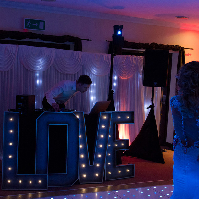 Gemma and Stefan's first dance. Our DJ service just getting underway.