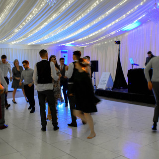 The wedding dance floor at Parklands Quendon Hall