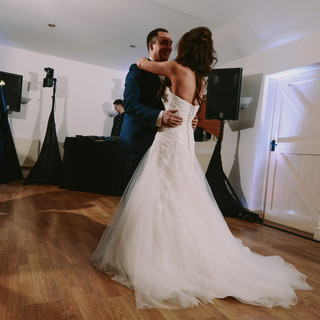 Sophie and Harry enjoying their first dance.
