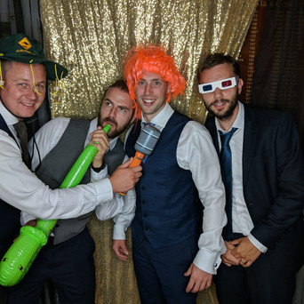 Katie & Mike's Wedding guests at Wivenhoe House