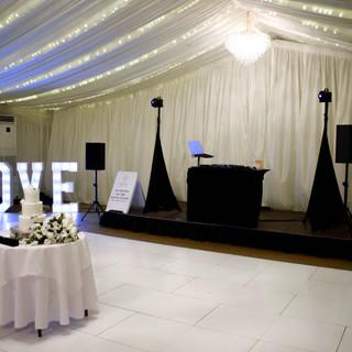 Our wedding DJ & LOVE Letters at Parklands Quendon Hall