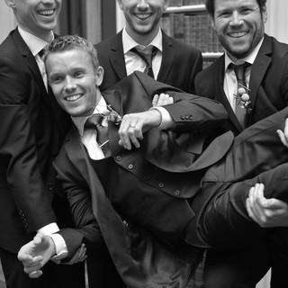 Chris and his groomsmen.