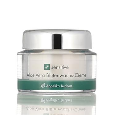 Angelika Teichert Aloe Vera Blütenwachscreme 50ml - Feuchtigkeitsarme Haut