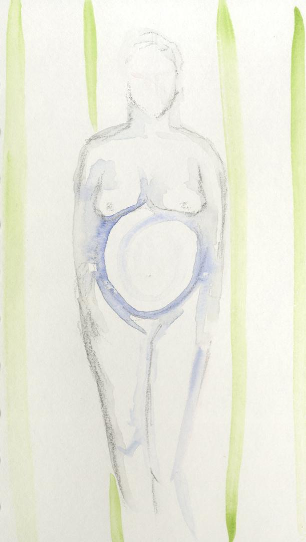 Standing Pregnancy