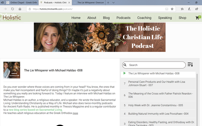 Michael interviewed by Cynthia Damaskos of Holistic Christian Life about Overcoming the Negative Voi