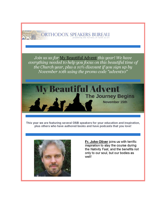 Michael Haldas interviewed for the My Beautiful Advent Seasonal Program