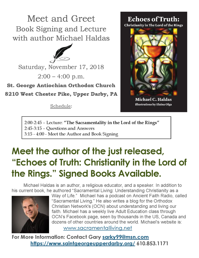"""Echoes of Truth: Christianity in the Lord of the Rings"" Book signing and Lecture on Novem"