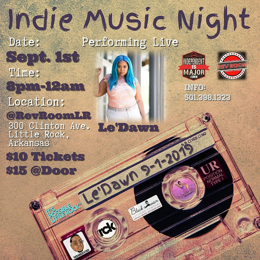 Le'Dawn at Indie Music Night 9/1/19