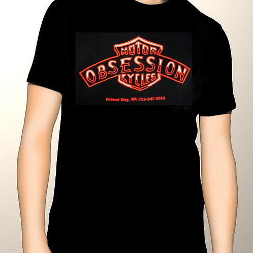 Men's Graphic T-Shirt Obsession Motorycles Logo