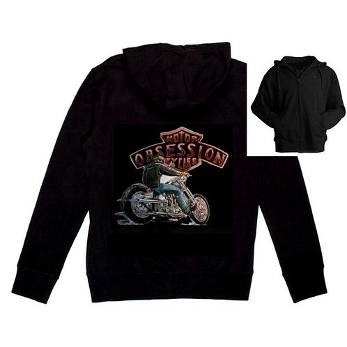 Graphic Black Hoodie w/ Obsession Rider