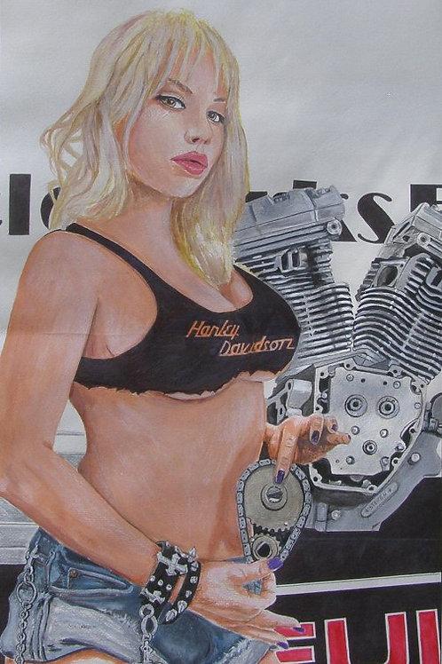 Hot Babe Motor Jugs