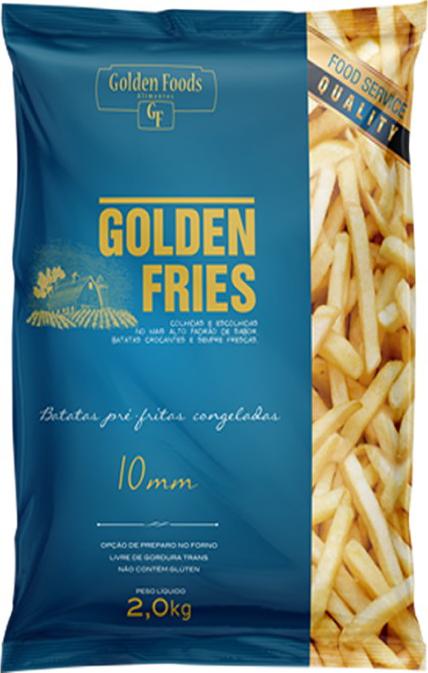 Batata Frita congelada 2Kg Golden Fries Blue