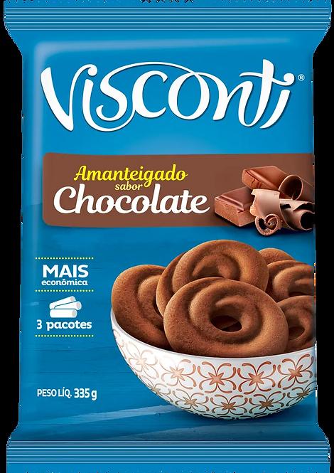 Biscoito Amanteigado 335g sabor Chocolate Visconti