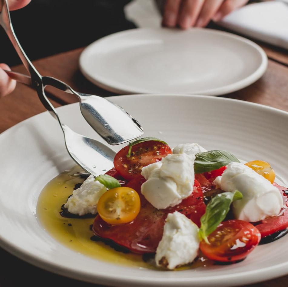 Buffalo Mozzerella, Fresh Tomato & Basil Salad.