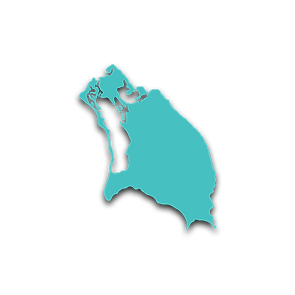 Map outline of Barbuda