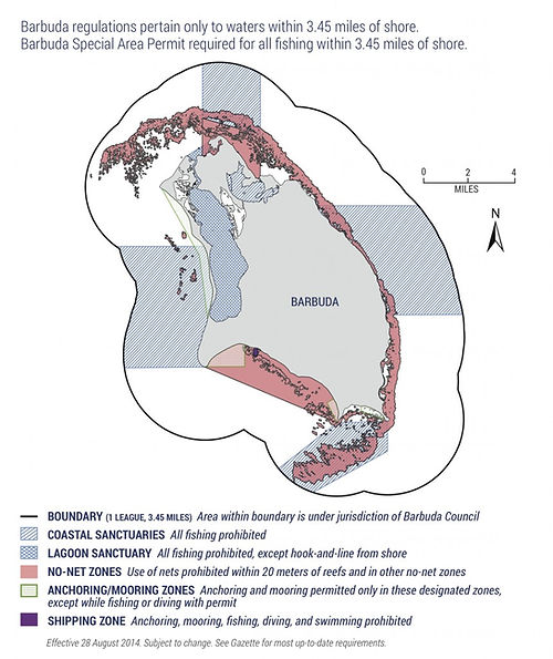 Barbuda's Marine Spatial Plan Map