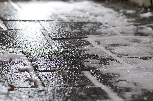 Icy Sidewalk Needing Ice Melt