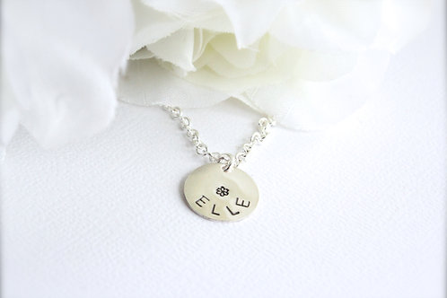 Sterling Silver Personalized Necklace for Girls