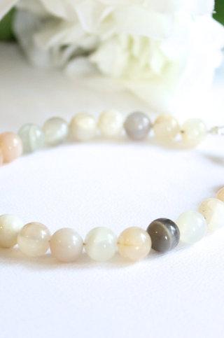 Fertility Crystal Bracelet Moonstone in Earth Tones