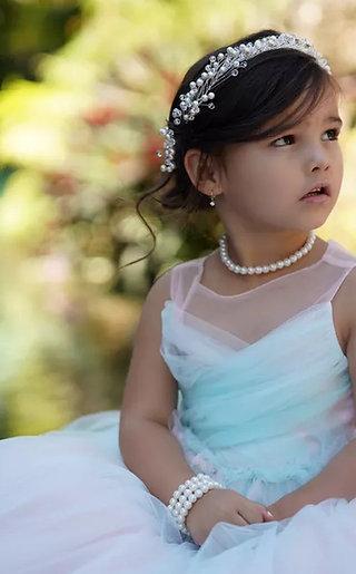 Pearl Necklace for Little Girls, Flower Girl