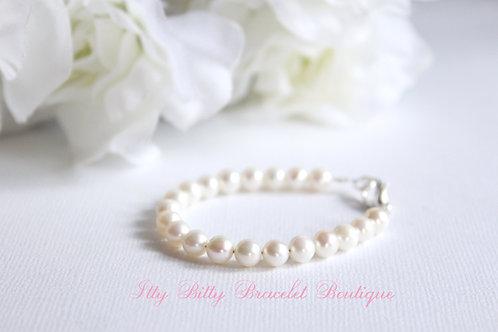 Real Pearl Bracelet Keepsake for Babies and Little Girls