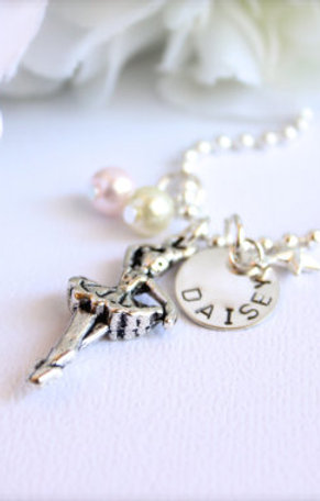 Dancing Ballerina Sterling Silver Necklace