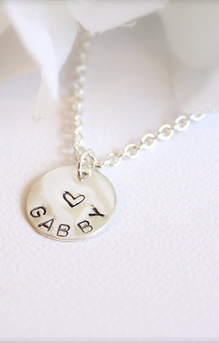 Girls Sterling Silver Personalized Necklace