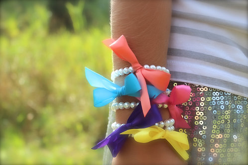 Pearls and Ribbon Bracelet for Girls & Baby - Custom Colors!