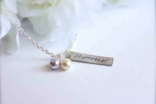 Godmother Gift Personalized Necklace Keepsake