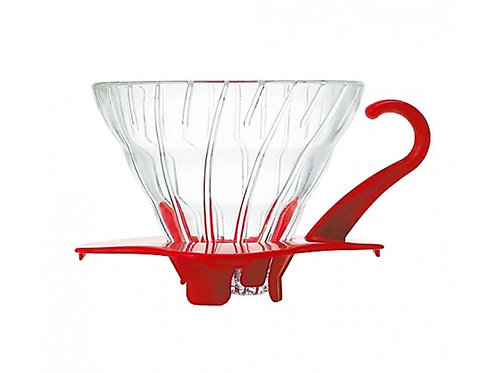 Hario V60 Glass Coffee Brewer (Red)